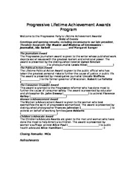 Progressive Awards Dinner Activity
