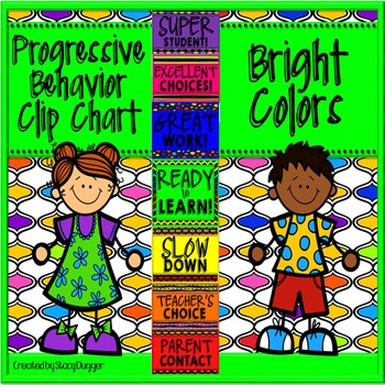 Progressive Behavior Clip Chart with Bright Colors