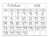 Progressive Calendars for the *2018-2019* School Year