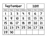 Progressive Calendars for the *2019-2020* School Year