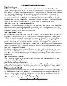 Progressive Discipline & Behavior Strategies Forms
