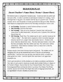 BEHAVIOR PLAN:  Progressive Discipline Handout (Editable)