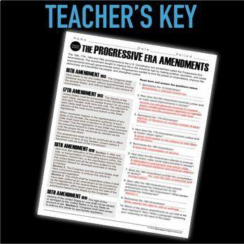 Progressive Era Amendments Primary Source Analysis