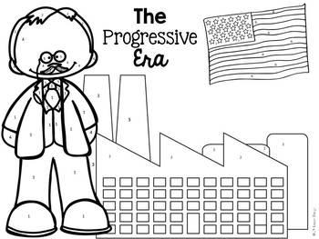 Progressive Era: Color-By-Number
