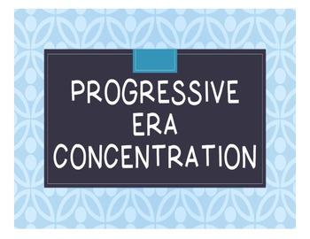 Progressive Era Concentration Game