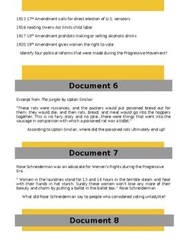 Progressive Era DBQ Google Classroom Doc