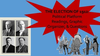 Progressive Era Election of 1912 Reading, Graphic Organizer, & Questions
