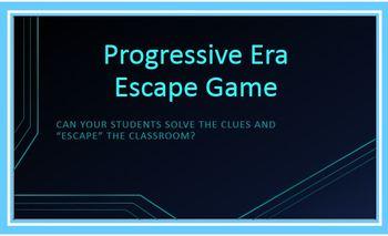 Progressive Era Escape Game