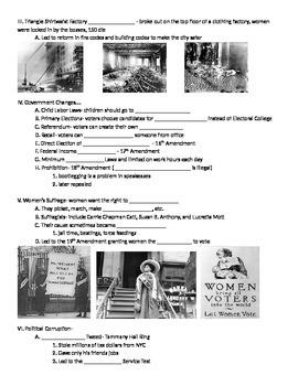 Progressive Era: Fill In Notes