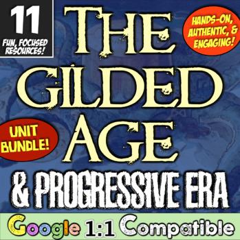 Progressive Era & Gilded Age Unit! 11 Engaging Resources for Progressive Era!