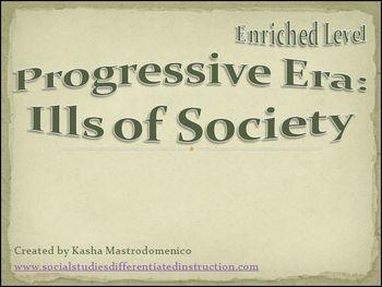 Progressive Era Ills of Society PowerPoint