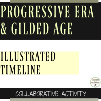 Progressive Era Illustrated Timeline Collaborative Activity or Project