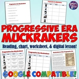 Progressive Era Muckrakers Chart and Worksheet