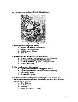 Progressive Era Multiple Choice Exam With Answer Key Tpt