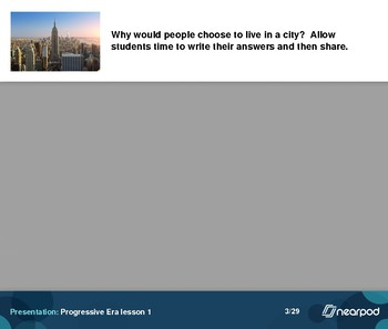 Progressive Era:  4 presentations for 4 lessons
