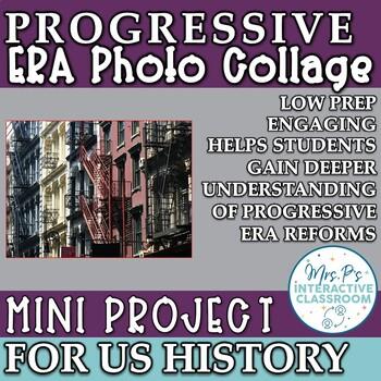Progressive Era Photo Collage US History Mini Project