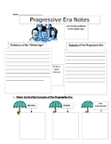 Progressive Era Picture Notes (with Key) Part 1 of 4