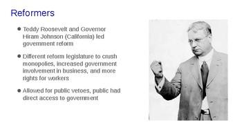 Progressive Era Political Reform Presentation