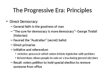 Progressive Era Powerpoint