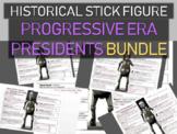 Progressive Era Presidents Historical Stick Figures (Mini-biography) 5-PACK