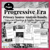 Progressive Era Primary Source Analysis Activity Bundle