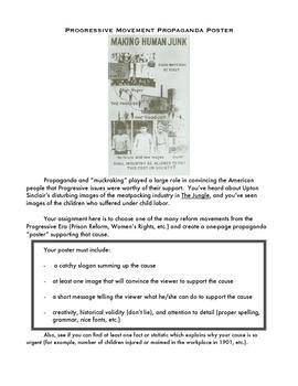 Progressive Era Propaganda Poster Activity