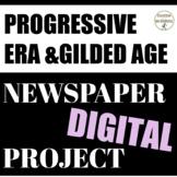 Progressive Era Quick and Easy Newspaper Collaborative Activity for Google Drive