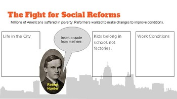 Progressive Era Reform Digital Interactive Notebook