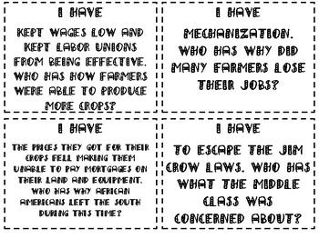Progressive Era Review Game