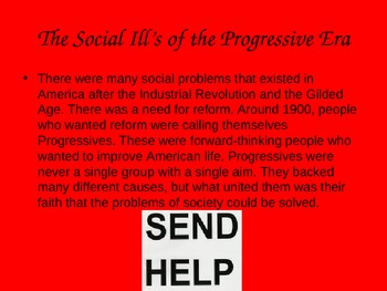 Progressive Era: Social Ills Power Point/Notes