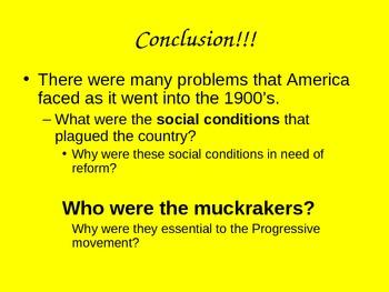 Progressive Era: Social Ills Power Point/Notes