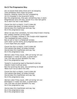 Progressive Era Song to Kenny Chesney's Save It For A Rainy Day Parody
