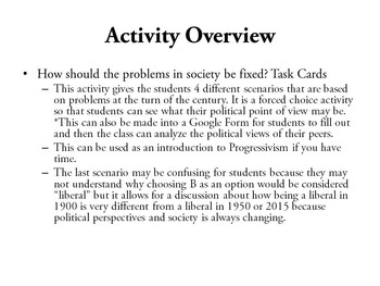 Progressive Era Task Cards