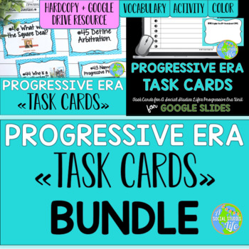Progressive Era Task Cards BUNDLE