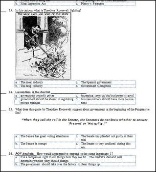U.S. History Progressive Era Test (1890-1920)