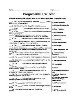 Progressive Era Test