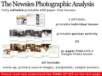 Newsies Photographic Analysis
