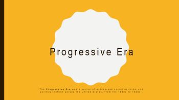 Progressive Era To the Point