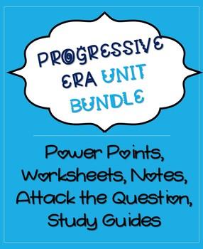 Progressive Era Unit Bundle