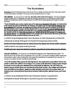 Progressive Era Unit Lesson Pack (8th Grade Social Studies