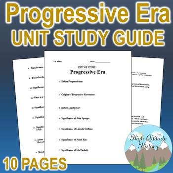 Progressive Era Unit Study Guide