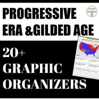 Progressive Era and Gilded Age Interactive Notebook 20+ Graphic Organizers
