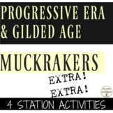 Progressive Era and Gilded Age Muckraker 4 Activities RECE