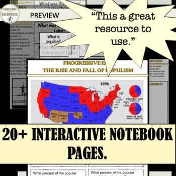 Progressive Era and Gilded Age Bundle with 12+ Resources