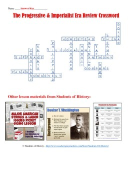 progressive era and imperialism crossword puzzle by students of history. Black Bedroom Furniture Sets. Home Design Ideas