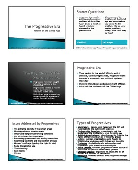 Progressive Era in America - Issues, Muckrakers & Reformers Research Activity