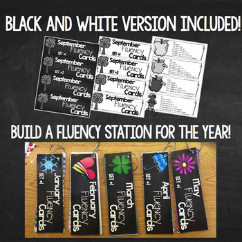 Progressive Fluency Cards BUNDLE