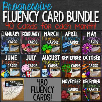 Progressive Fluency Cards BUNDLE