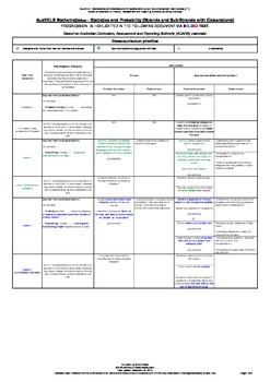 Progressive Framework AusVELS Mathematics AC – Statistics & Probability (F-7)