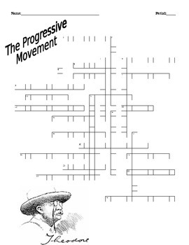 Progressive Movement Crossword Puzzle U.S. History Honors/A.P. Level